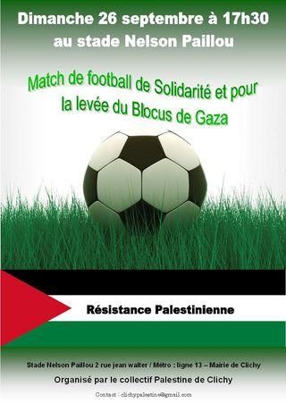 Affiche match de foot palestine